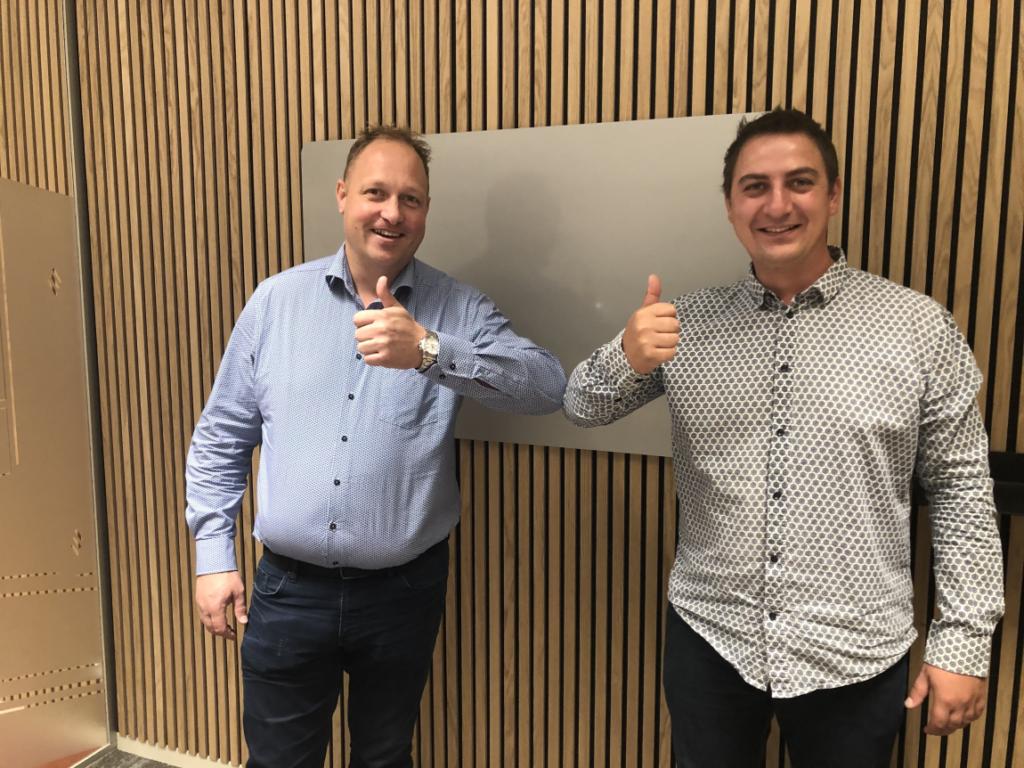 Ny medarbejder, billede med Michael Klemmesen og Ruben Nielsen